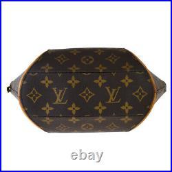 Auth LOUIS VUITTON Ellipse PM Hand Bag Monogram Leather Brown M51127 77SB476