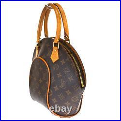 Auth LOUIS VUITTON Ellipse PM Hand Bag Monogram Leather Brown M51127 84BS724