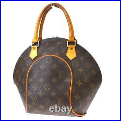 Auth LOUIS VUITTON Ellipse PM Hand Bag Monogram Leather Brown M51127 88MH889