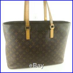 Auth LOUIS VUITTON LUCO Shoulder Bag Tote Bag Purse Monogram M51155 Brown