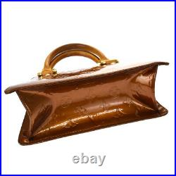 Auth LOUIS VUITTON Mini Forsyth Hand Bag Monogram Vernis Patent M91120 30BS226