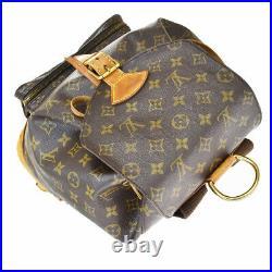 Auth LOUIS VUITTON Montsouris GM Backpack Bag Monogram Leather M51135 17BS623