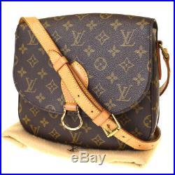 Auth LOUIS VUITTON Saint Cloud GM Shoulder Bag Monogram Brown M51242 34BJ728