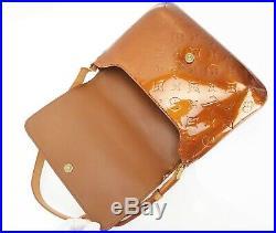 Auth LOUIS VUITTON Thompson Street Bronze Vernis Shoulder Bag Purse #32538
