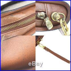 Auth Louis Vuitton Monogram Orsay M51790 Clutch Bag Brown 01FA054