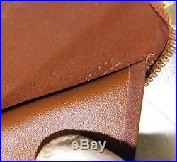 Auth Louis Vuitton Vernis Bronze Patent Leather Zip Around Wallet BJ1002 France
