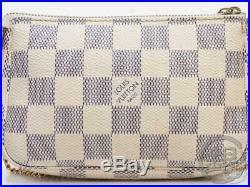 Auth Pre-owned Louis Vuitton Damier Azur Mini Pochette Accessoires N58010 180703