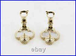 Auth Van Cleef & Arpels VCA Vintage Alhambra Pearl Gold Earrings Box Receipt