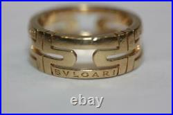 Authentic BULGARI Bvlgari Parentesi 18K Yellow Gold Ring Size 53 US 6.5