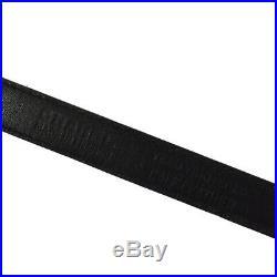 Authentic CHANEL Vintage CC Buckle Belt Black Gold Leather 70/28 AK31472