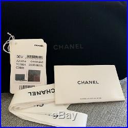 Authentic CHANEL Wallet on a Chain Bag WOC Clutch Purse Black Caviar Gold HW Box