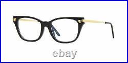 Authentic Cartier CT 0027 O 001 Black/Gold Eyeglasses