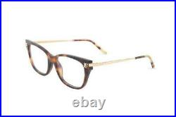 Authentic Cartier CT 0027 O 003 Havana/Gold Eyeglasses