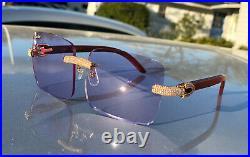 Authentic Cartier C Decor Micropaved CT0556S Buffs Buffalo Sunglasses