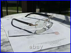 Authentic Cartier C Decor Sunglasses Black Buffalo Horn Gold Buffs CT0046S 004