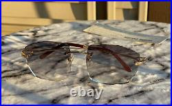 Authentic Cartier C Décor Sunglasses CT0050O 750 Buffs