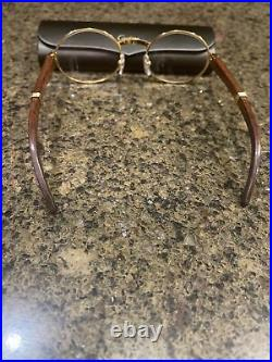 Authentic Cartier Giverny Vintage Wood Frame Glasses. Size 51 GREAT CONDITION