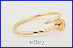 Authentic Cartier Juste Un Clou Nail Bracelet 18k Pink Gold Diamonds Size 18