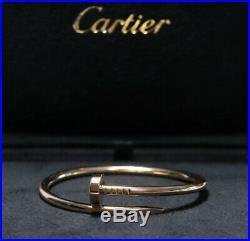 Authentic Cartier Juste Un Clou Nail Bracelet 18k Yellow Gold Size 15