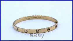 Authentic Cartier LOVE Bangle Bracelet 18K Yellow Gold Large Sz 20 Screw 36.9 GM