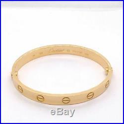 Authentic Cartier Love Bracelet Yellow Gold Size 16cm