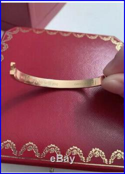 Authentic Cartier Love Bracelet in Rose Gold Size 16