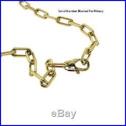 Authentic Cartier Santos de Cartier 18k Gold Chain Necklace, 22 inches, Cert