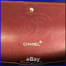 Authentic Chanel Black Quilted Lambskin Classic 2.55 Double Flap Bag