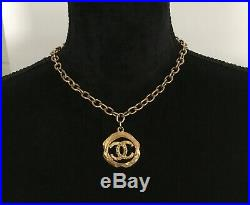 Authentic Chanel Vintage Gold Tone COCO Necklace/Choker