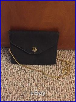 Authentic Christian Dior Vintage Gold Chain Shoulder Bag Clutch Made In France