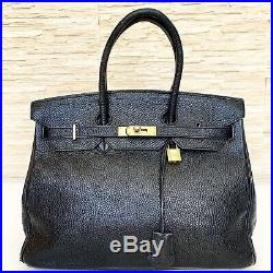 Authentic Hermes Birkin 35cm Black Togo Leather With Gold Hardware