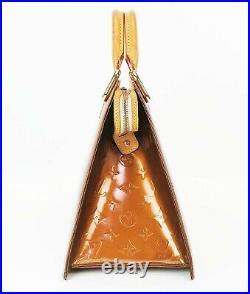 Authentic LOUIS VUITTON Forsyth Bronze Vernis Leather Hand Bag Purse #36953