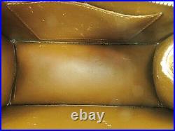 Authentic LOUIS VUITTON Forsyth Mini Bronze Vernis Leather Hand Bag Purse #38507
