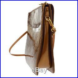 Authentic LOUIS VUITTON Mott Shoulder Bag Monogram Vernis M91138 Bronze 04EW318