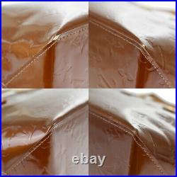Authentic LOUIS VUITTON Read PM Hand Bag Monogram Vernis Bronze M91146 60MH467