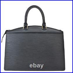 Authentic LOUIS VUITTON Riviera Hand Bag Epi Leather Black Gold M48182 62MI368
