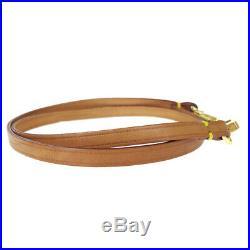 Authentic LOUIS VUITTON Shoulder Strap Leather Gold-Tone Brown Accessory 02BJ787