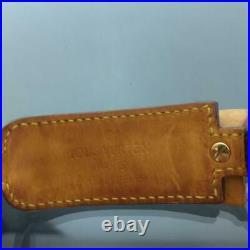 Authentic Louis Vuitton Bow Monogram Canvas Leather Bangle Bracelet Brown Used