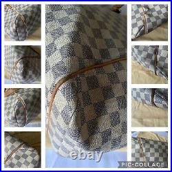 Authentic Louis Vuitton Damier Azur Totally MM Tote Bag
