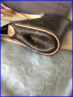 Authentic Louis Vuitton Eva Monogram Clutch Crossbody Bag