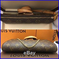 Authentic Louis Vuitton Eva Monogram Clutch Crossbody Bag + Box