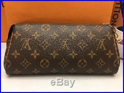 Authentic Louis Vuitton Eva Monogram Clutch Crossbody Bag + Shopping Bag