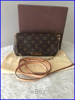 Authentic Louis Vuitton Favorite PM Monogram Crossbody Bag