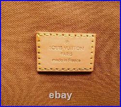 Authentic Louis Vuitton Lockit Horizontal Monogram Canvas Tote Bag with Padlock