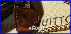 Authentic Louis Vuitton Mini Pochette Monogram Bag With Gold Chain, Plus Dustbag