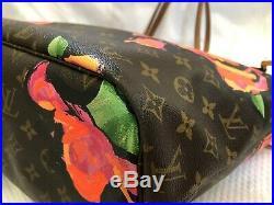 Authentic Louis Vuitton Monogram Stephen Sprouse Rose Neverfull MM Shoulder Bag