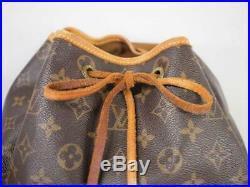 Authentic Louis Vuitton Montsouris Gm Backpack Bag Rucksack Monogram Purse