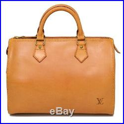 Authentic Louis Vuitton Speedy 30 Boston Hand Bag Nomade Leather Brown Gold LV