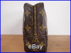 Authentic Louis Vuitton Trousse Toilette 23 Cosmetic Pouch Clutch Bag Handbag