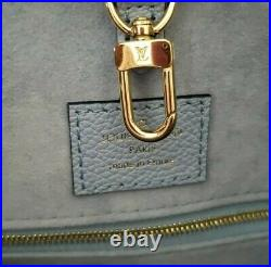 Authentic Monogram Giant Summer Blue Onthego MM Bag by Louis Vuitton by Pool Ed